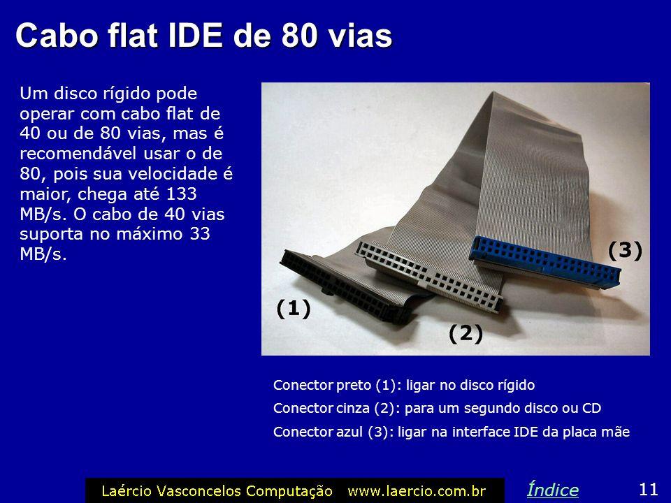 Cabo flat IDE de 80 vias