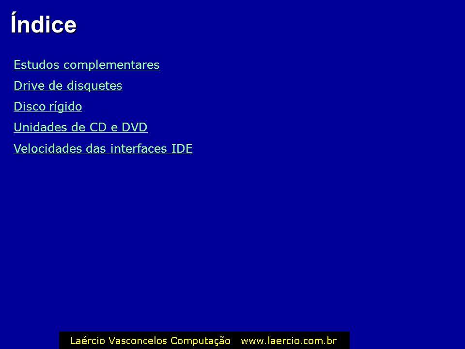 Índice Estudos complementares Drive de disquetes Disco rígido