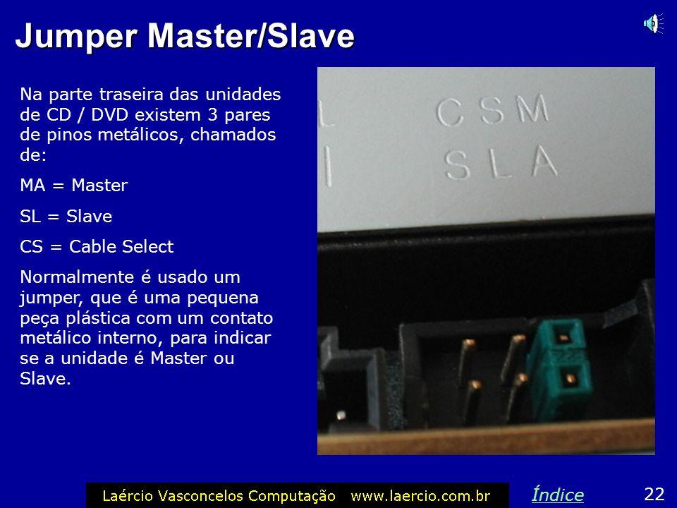 Jumper Master/Slave Na parte traseira das unidades de CD / DVD existem 3 pares de pinos metálicos, chamados de: