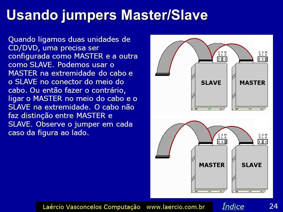 Usando jumpers Master/Slave