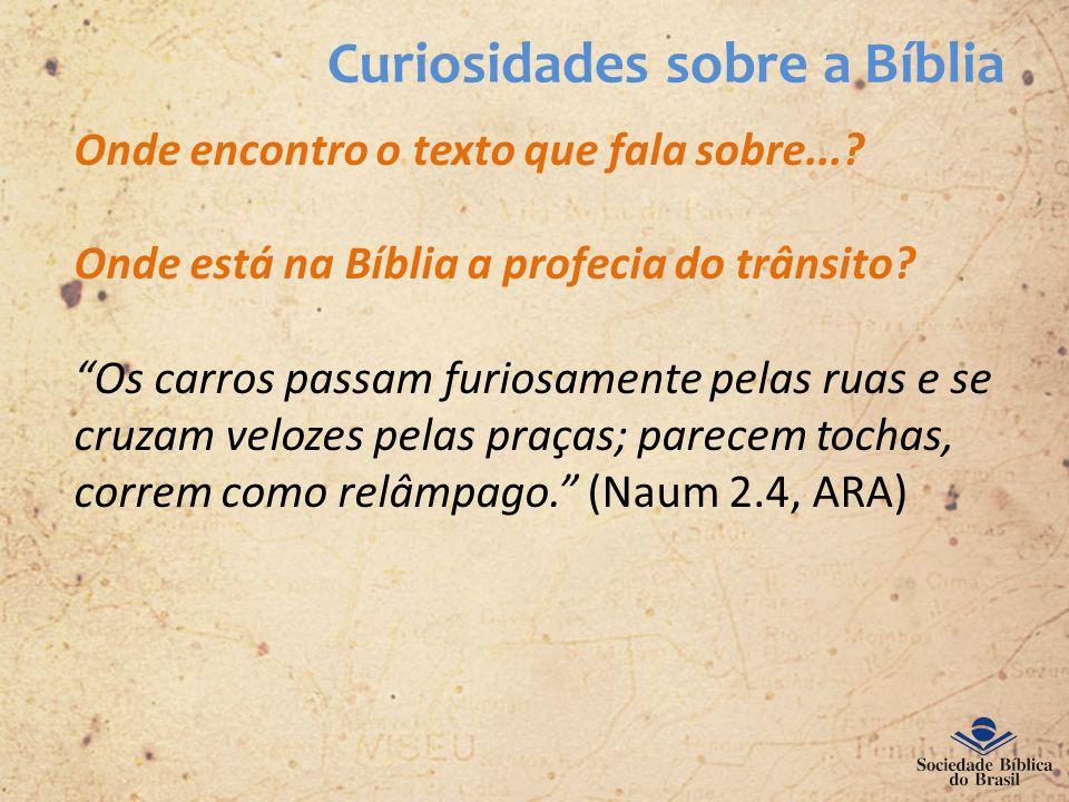 Curiosidades sobre a Bíblia