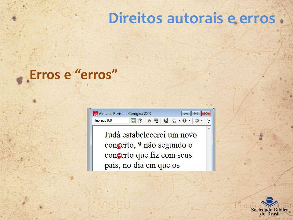 Direitos autorais e erros