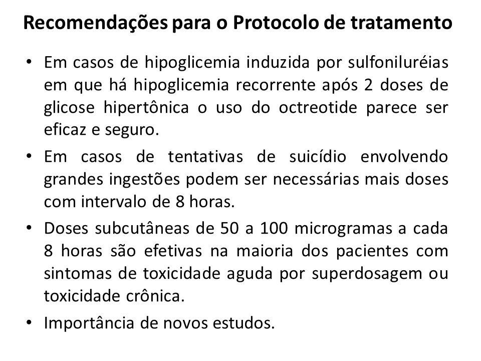Recomendações para o Protocolo de tratamento