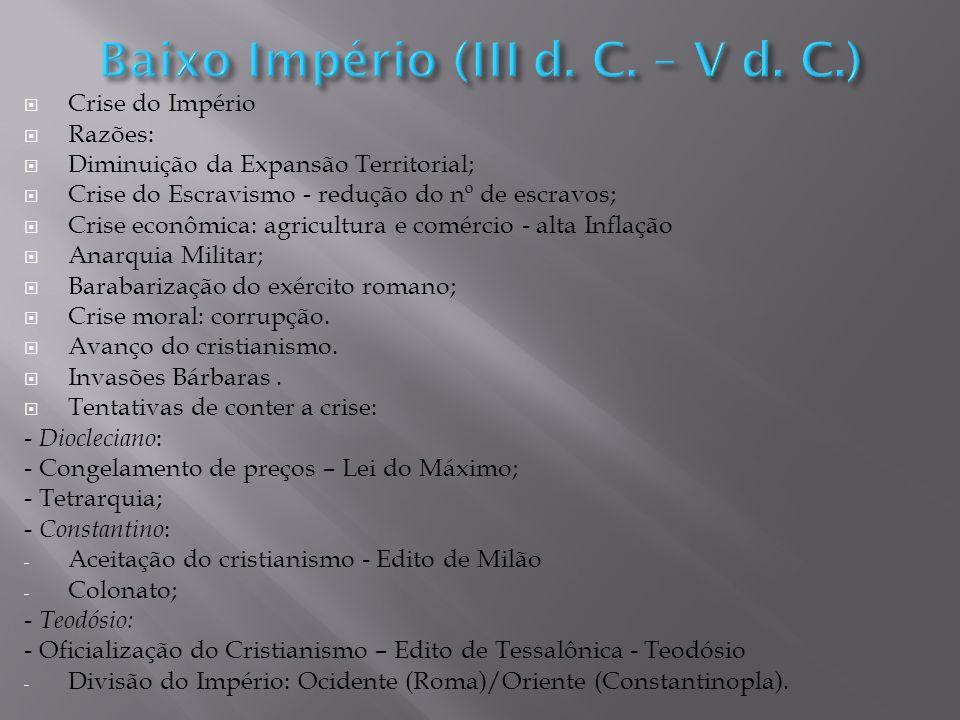 Baixo Império (III d. C. – V d. C.)
