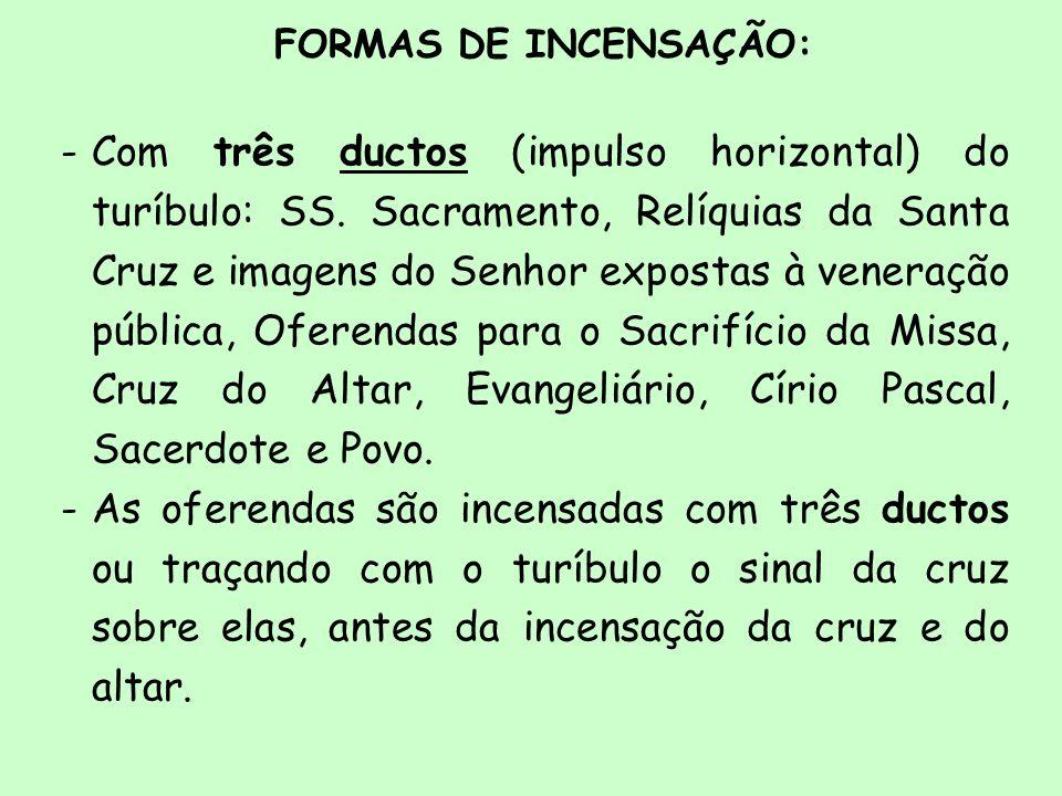 FORMAS DE INCENSAÇÃO: