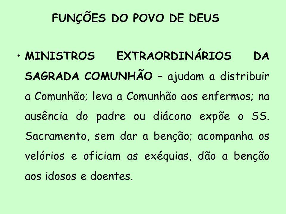 FUNÇÕES DO POVO DE DEUS