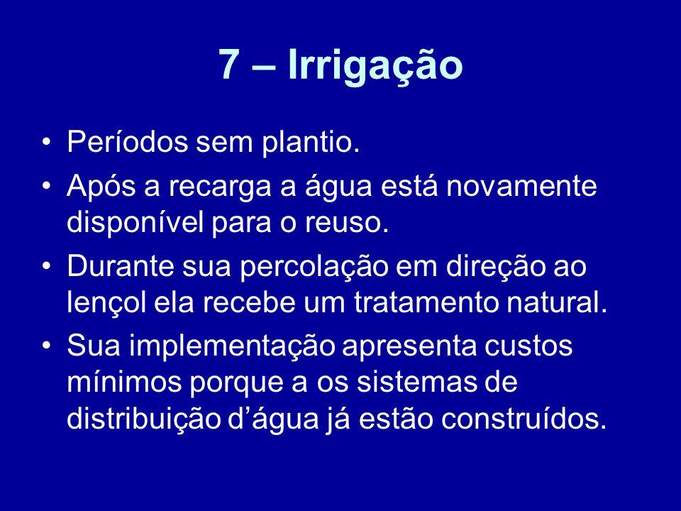 7 – Irrigação Períodos sem plantio.