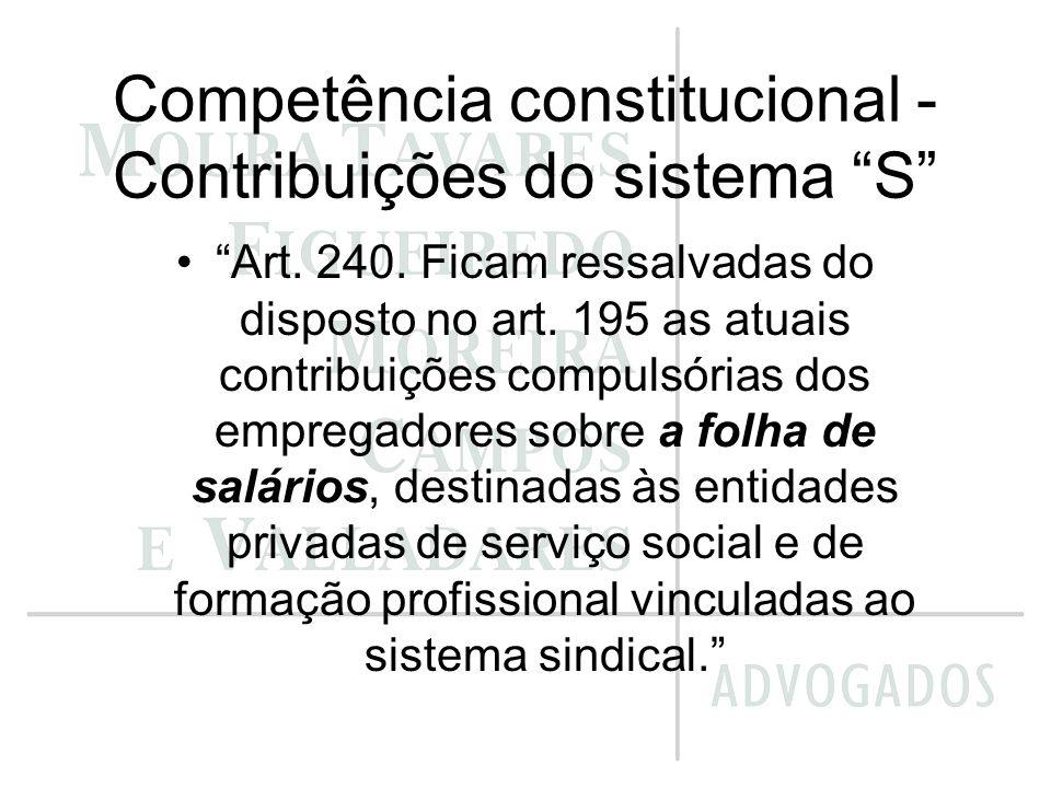 Competência constitucional - Contribuições do sistema S