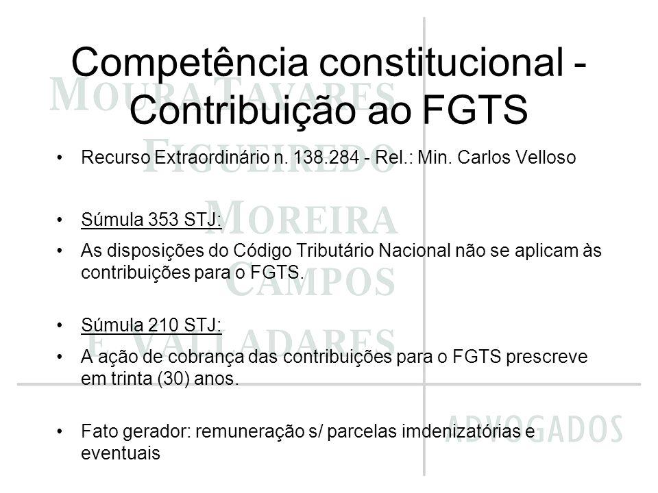 Competência constitucional - Contribuição ao FGTS