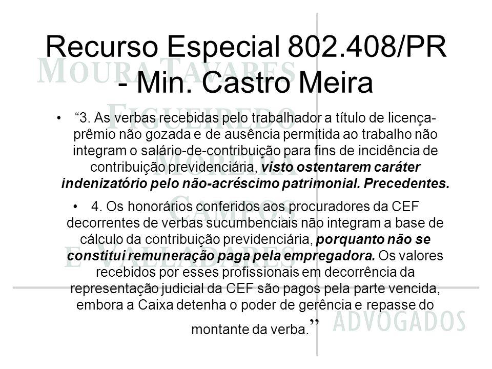 Recurso Especial 802.408/PR - Min. Castro Meira