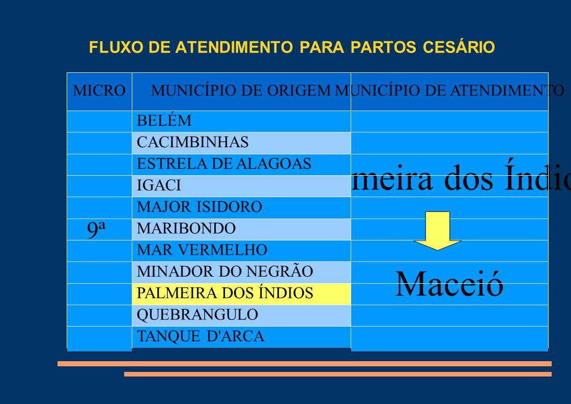 FLUXO DE ATENDIMENTO PARA PARTOS CESÁRIO