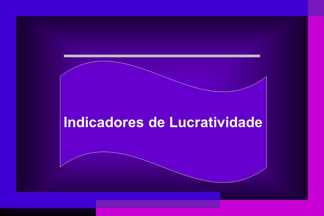 Indicadores de Lucratividade