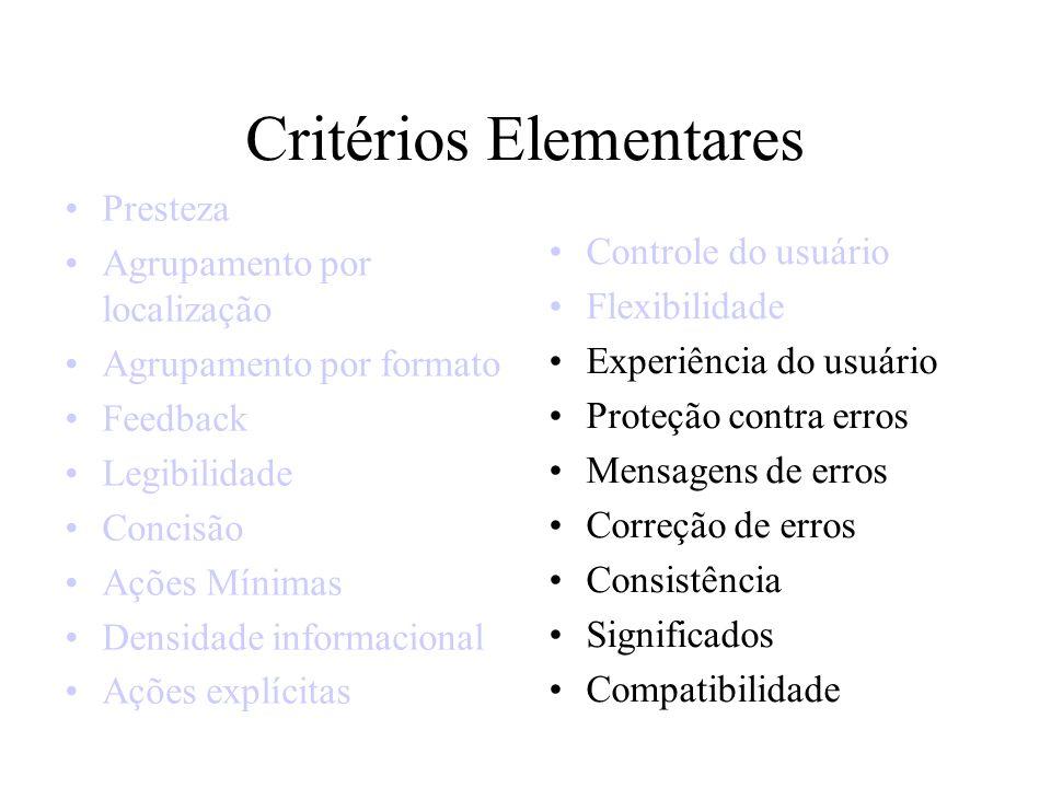 Critérios Elementares