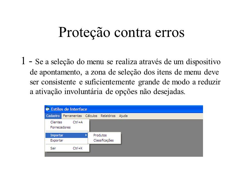 Proteção contra erros