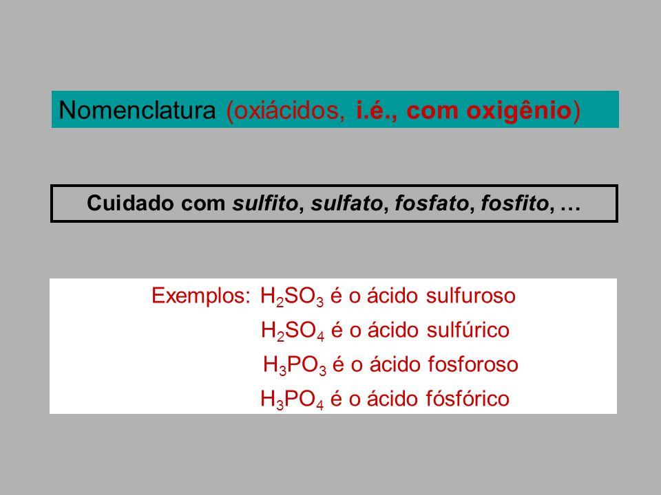 Cuidado com sulfito, sulfato, fosfato, fosfito, …