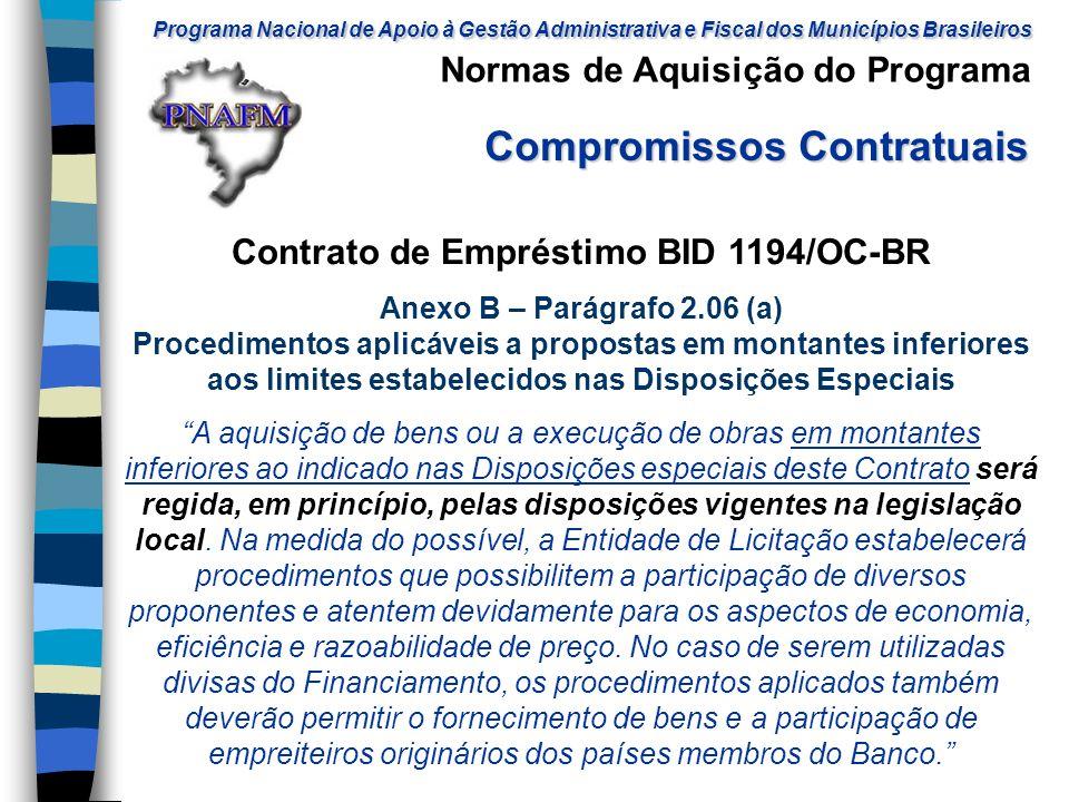 Contrato de Empréstimo BID 1194/OC-BR