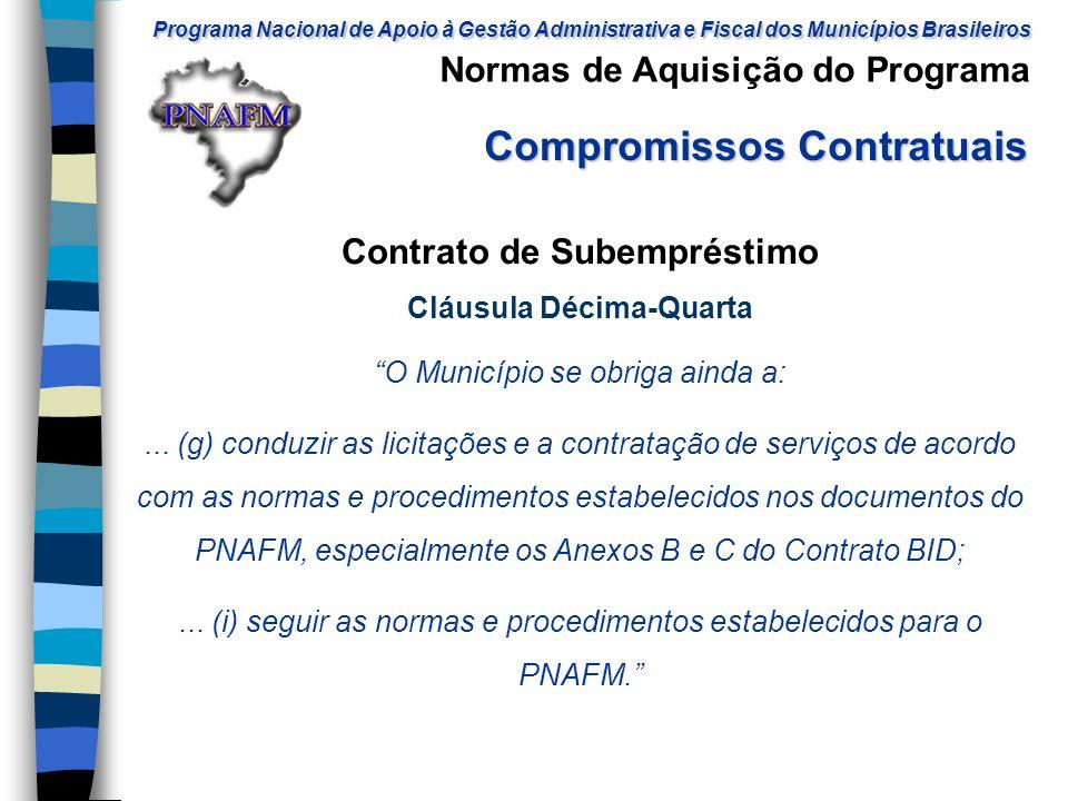 Contrato de Subempréstimo Cláusula Décima-Quarta