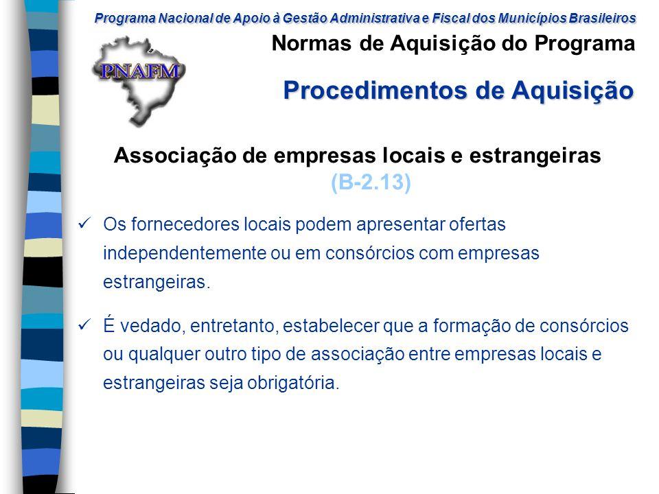 Associação de empresas locais e estrangeiras (B-2.13)