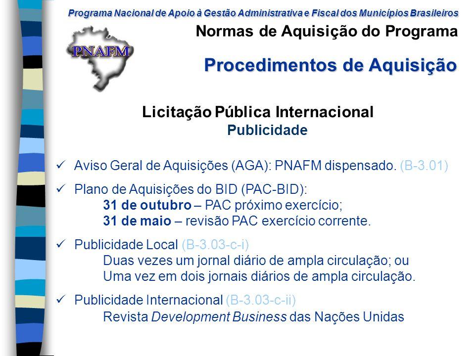 Licitação Pública Internacional Publicidade