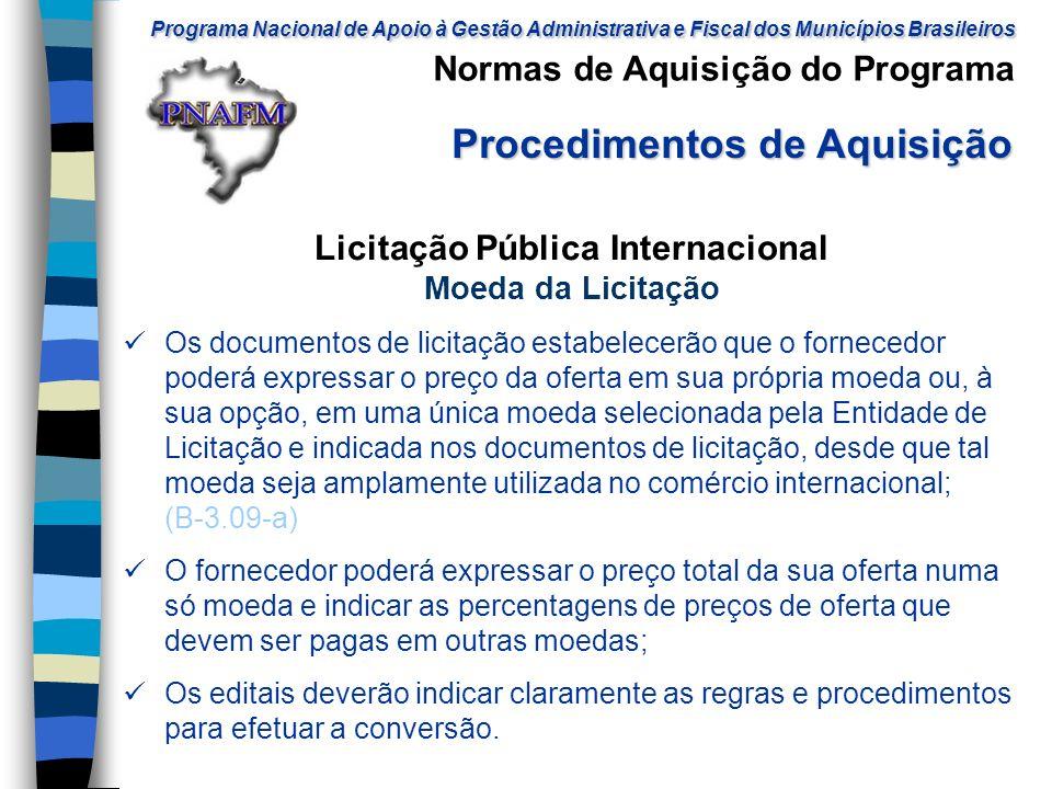 Licitação Pública Internacional