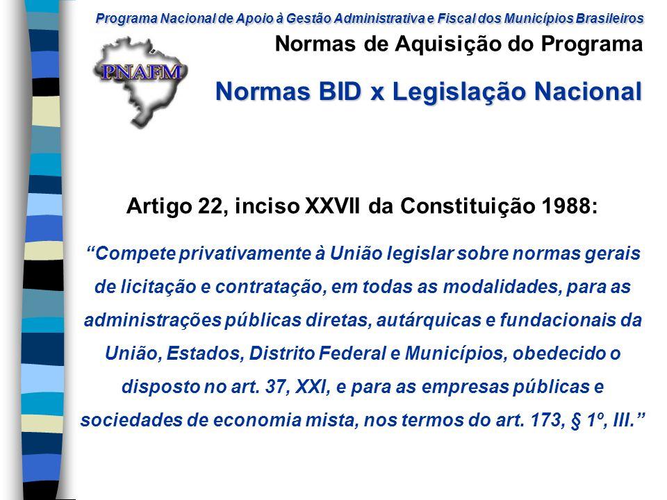 Artigo 22, inciso XXVII da Constituição 1988: