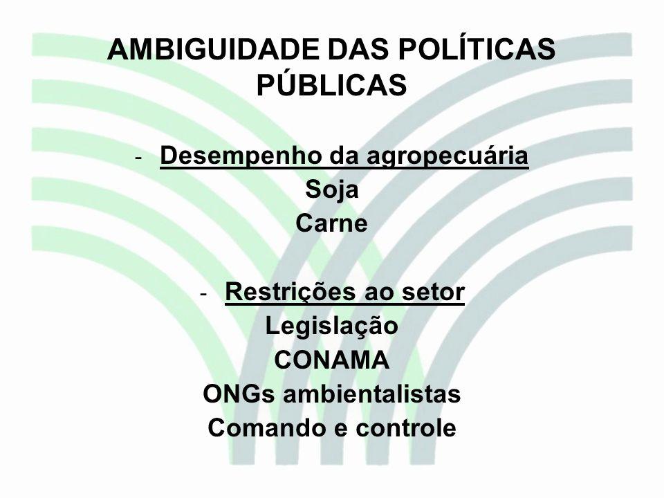 AMBIGUIDADE DAS POLÍTICAS PÚBLICAS