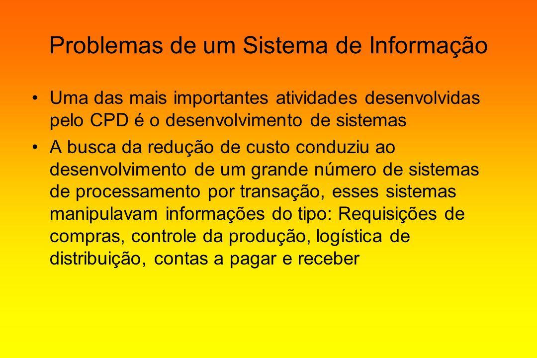 Problemas de um Sistema de Informação