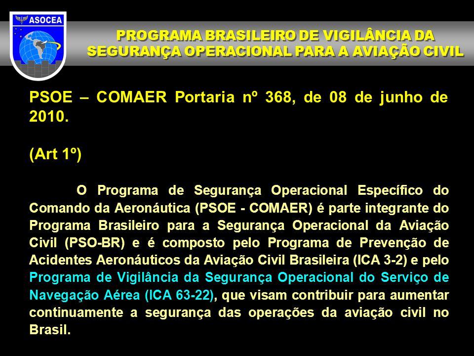 PSOE – COMAER Portaria nº 368, de 08 de junho de 2010.