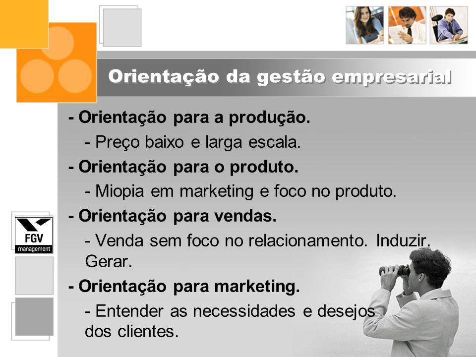 Orientação da gestão empresarial
