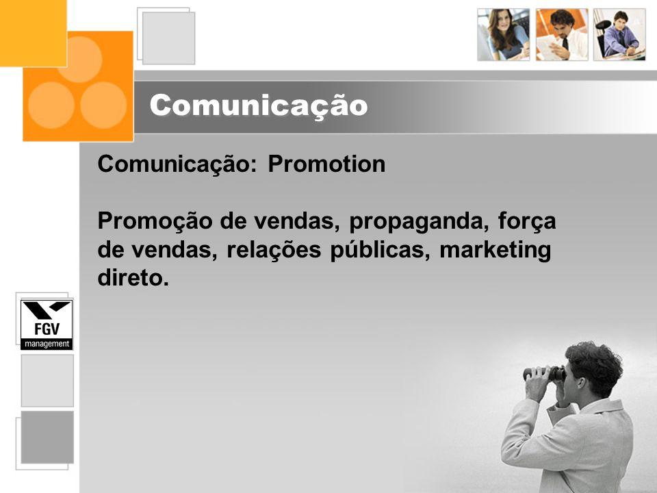Comunicação Comunicação: Promotion