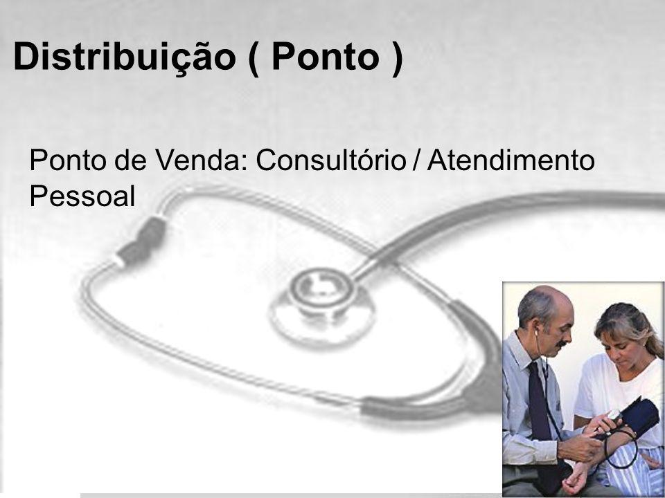 Distribuição ( Ponto ) Ponto de Venda: Consultório / Atendimento Pessoal