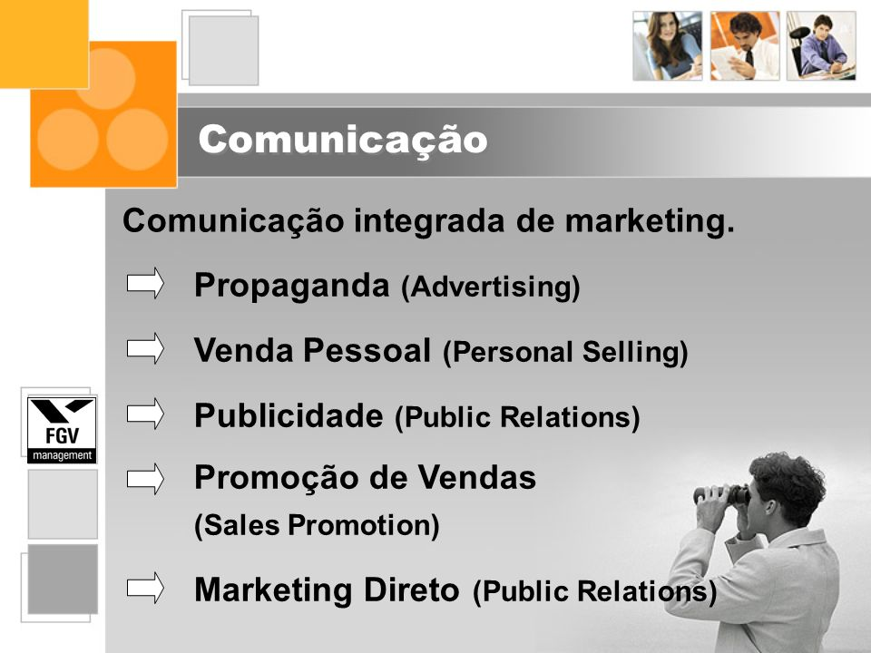 Comunicação Comunicação integrada de marketing.