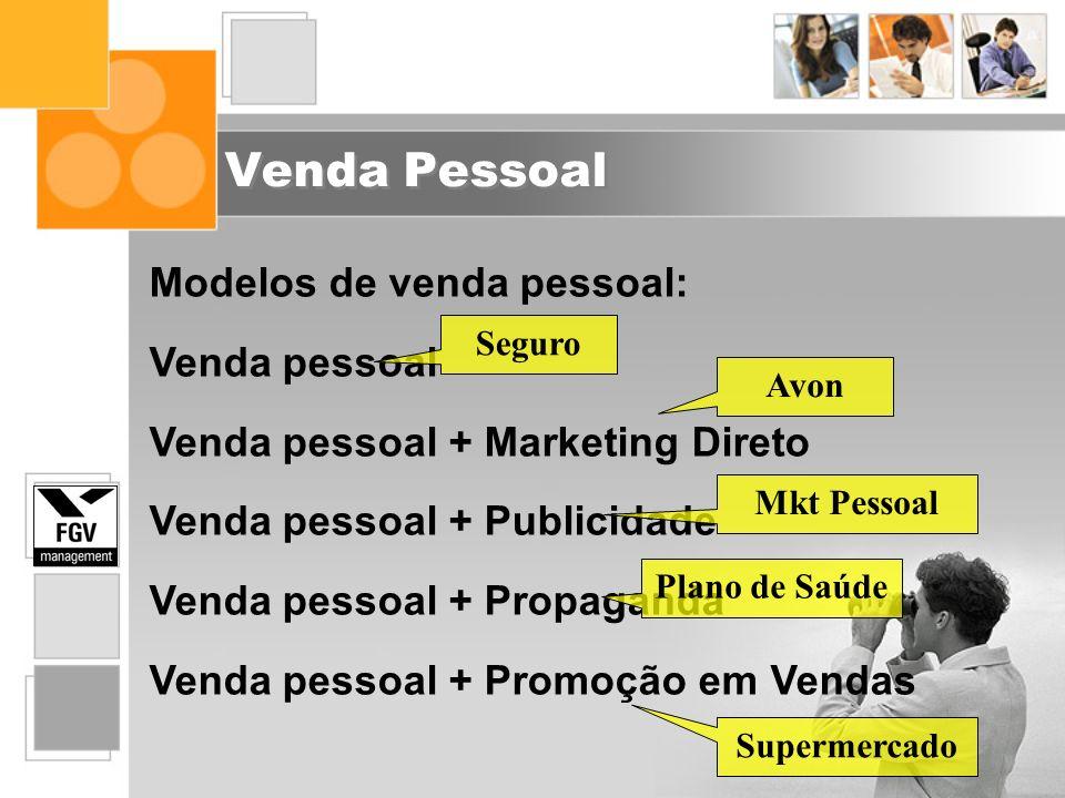 Venda Pessoal Modelos de venda pessoal: Venda pessoal