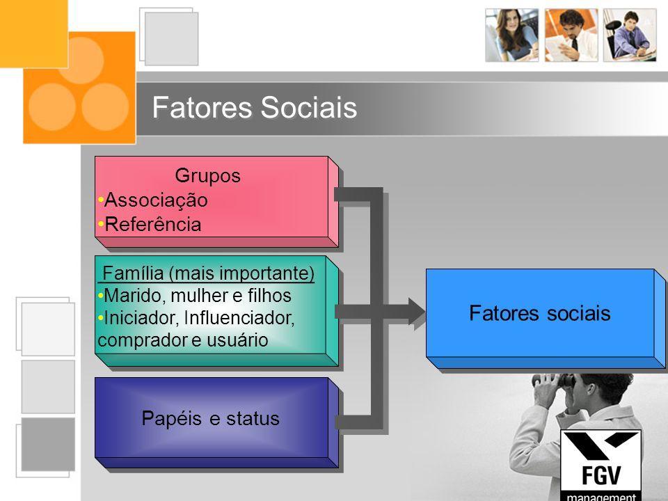 Fatores Sociais Fatores sociais Grupos Associação Referência