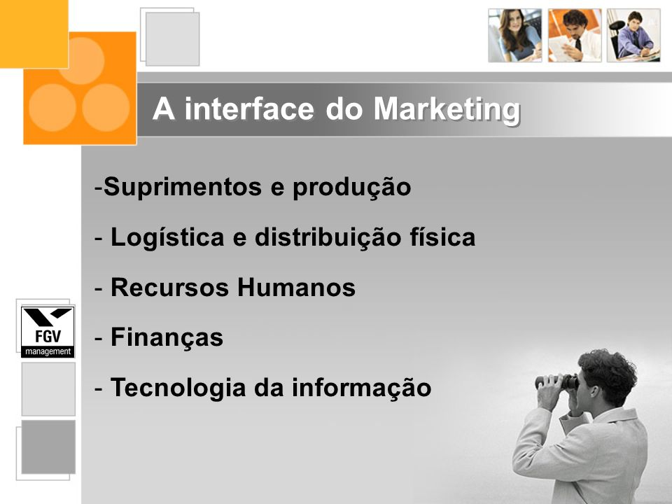 A interface do Marketing