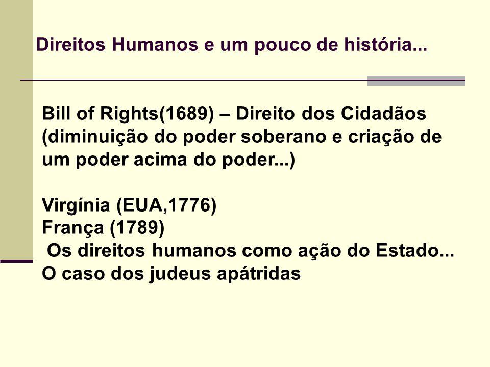 Direitos Humanos e um pouco de história...
