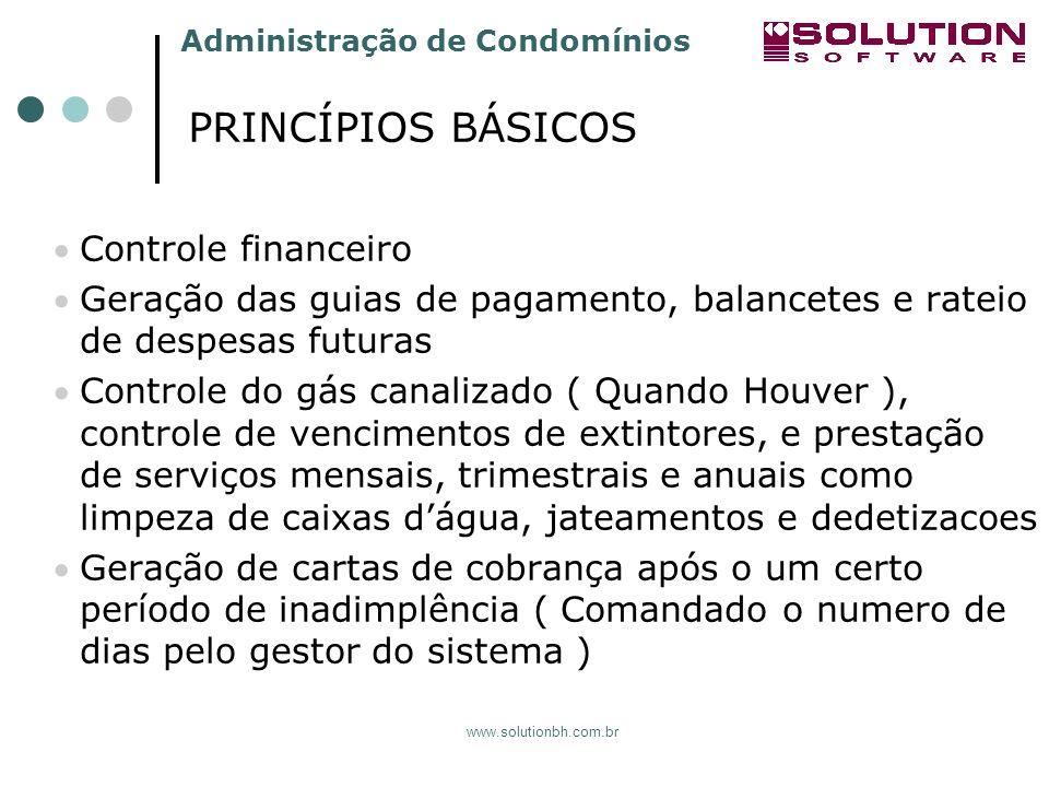 PRINCÍPIOS BÁSICOS Controle financeiro