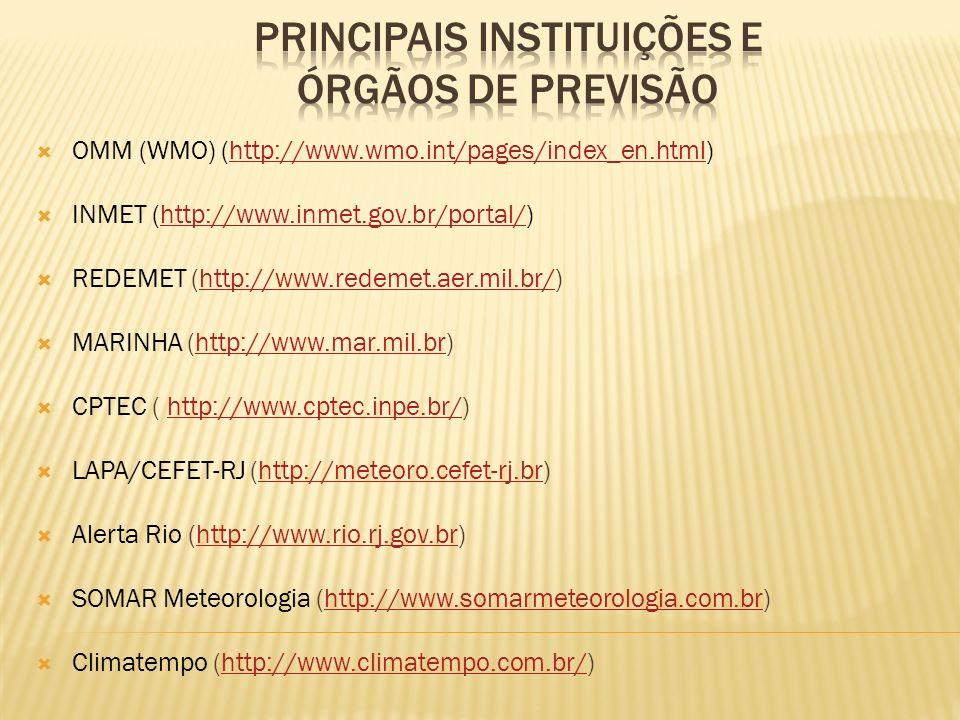 Principais Instituições e Órgãos de Previsão