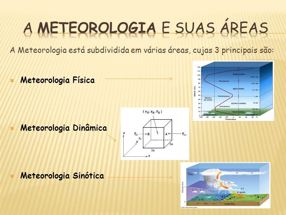 A METEOROLOGIA E SUAS ÁREAS