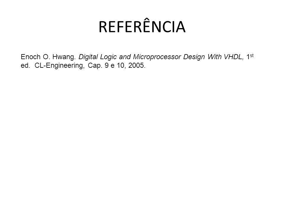 REFERÊNCIA Enoch O. Hwang. Digital Logic and Microprocessor Design With VHDL, 1st ed.