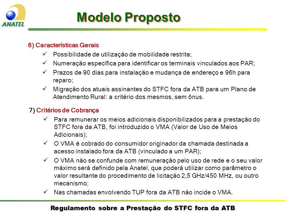 Modelo Proposto 6) Características Gerais