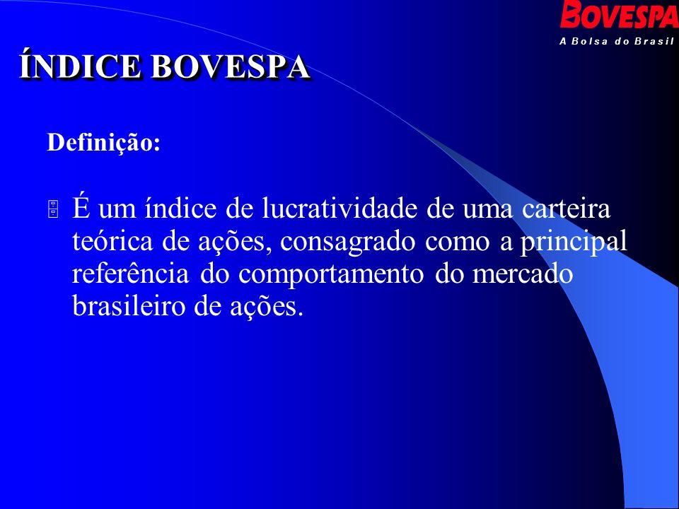 ÍNDICE BOVESPA Definição: