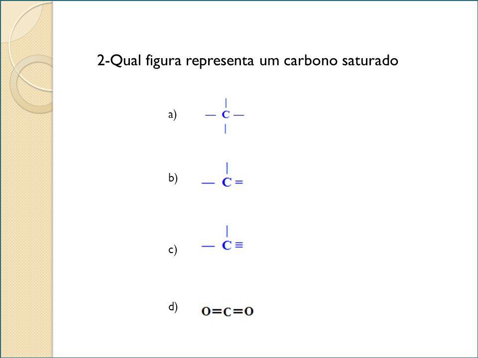 2-Qual figura representa um carbono saturado