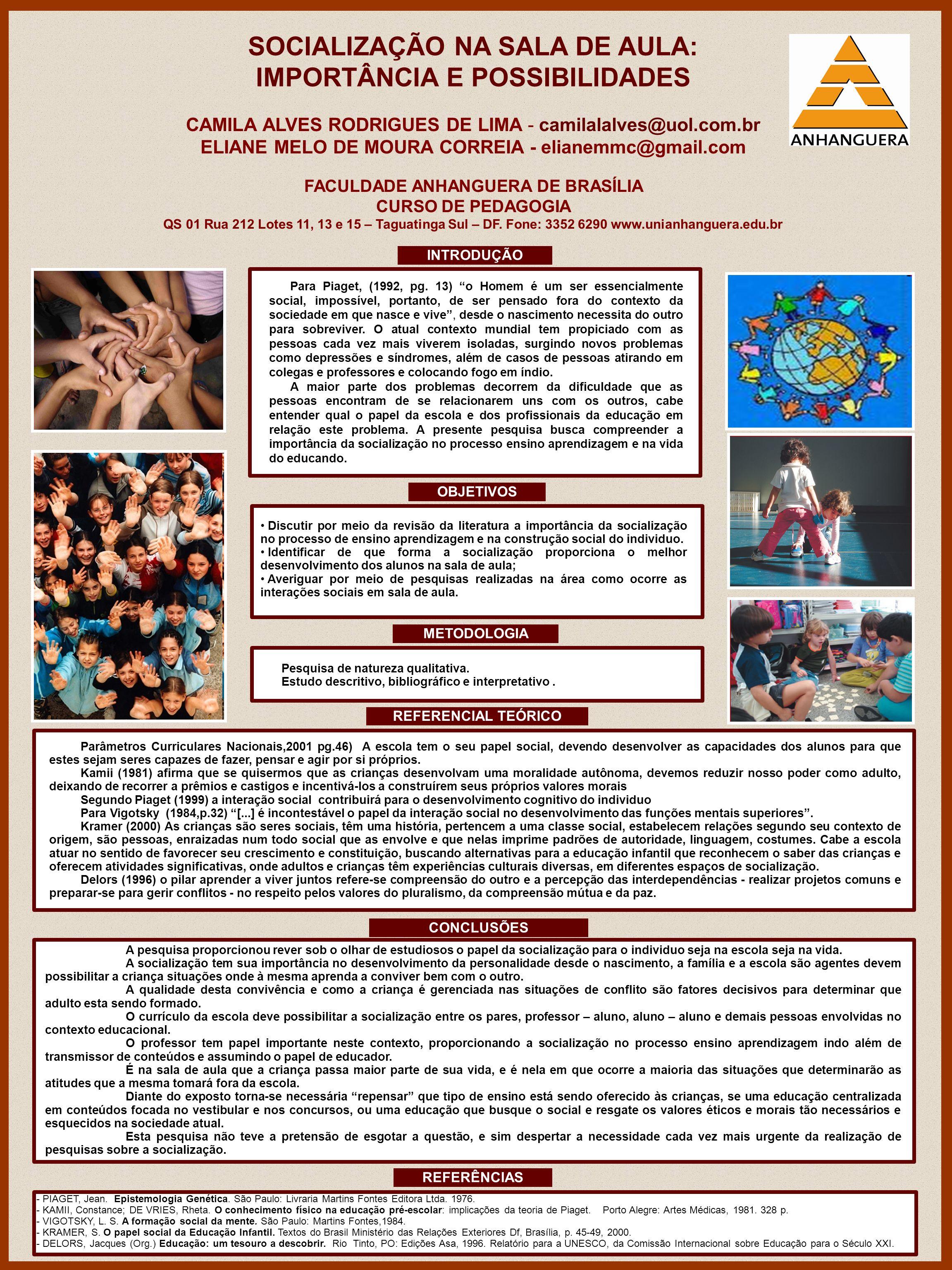 SOCIALIZAÇÃO NA SALA DE AULA: IMPORTÂNCIA E POSSIBILIDADES