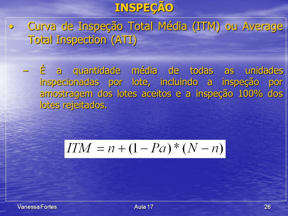 Curva de Inspeção Total Média (ITM) ou Average Total Inspection (ATI)