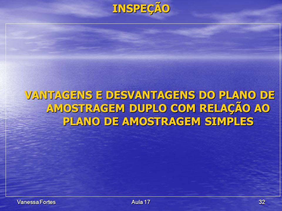 INSPEÇÃO VANTAGENS E DESVANTAGENS DO PLANO DE AMOSTRAGEM DUPLO COM RELAÇÃO AO PLANO DE AMOSTRAGEM SIMPLES.