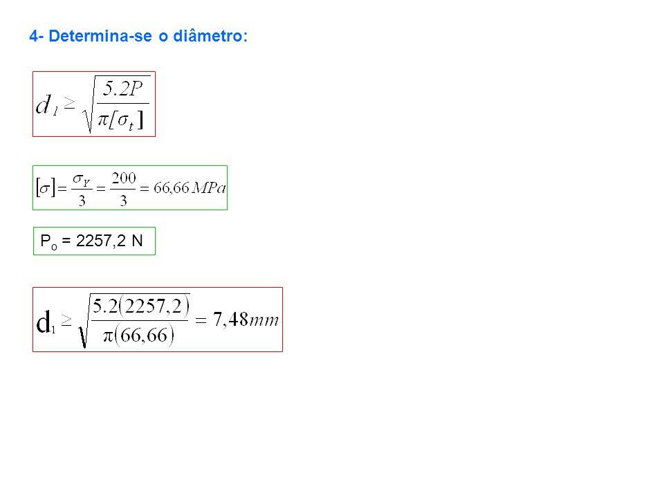 4- Determina-se o diâmetro: