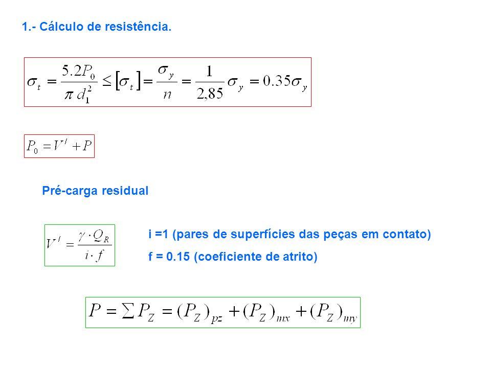 1.- Cálculo de resistência.