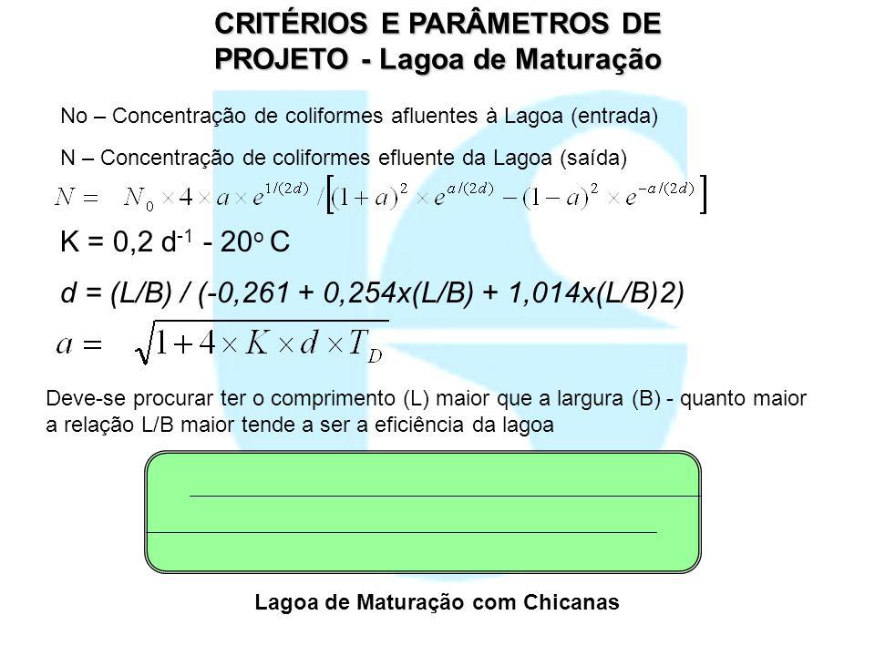CRITÉRIOS E PARÂMETROS DE PROJETO - Lagoa de Maturação