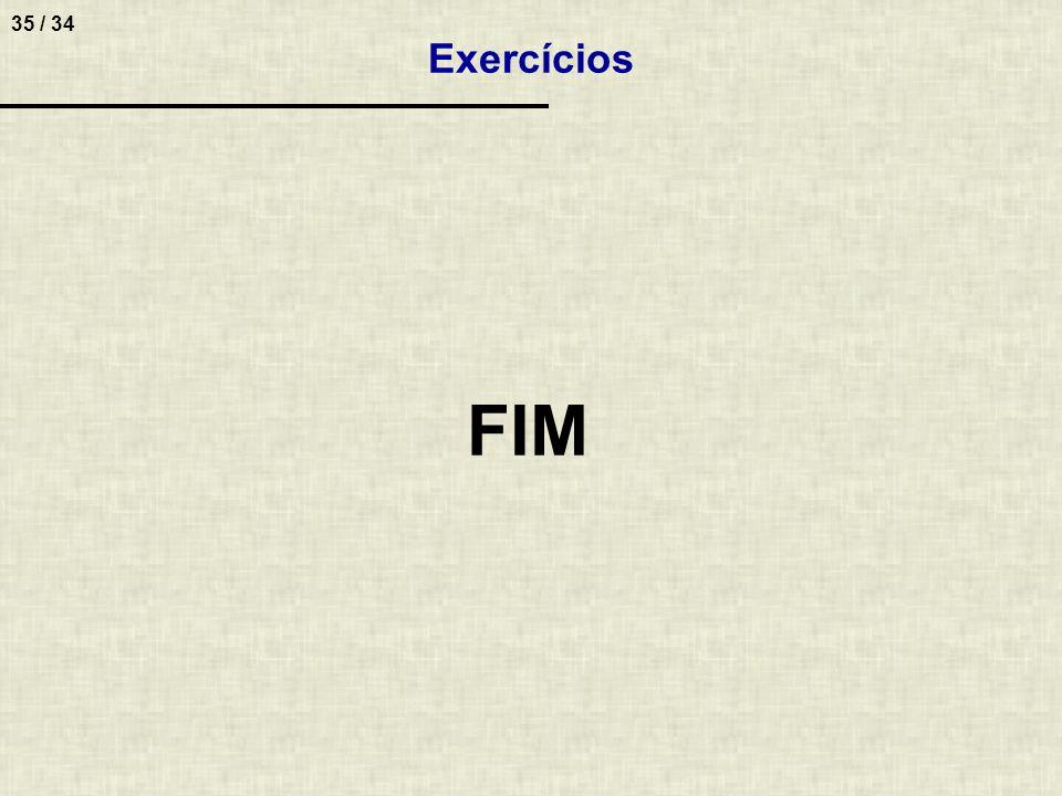 Exercícios FIM